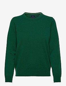 SUPERFINE LAMBSWOOL CREW - jumpers - ivy green