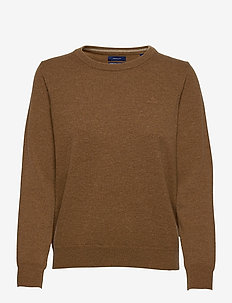 SUPERFINE LAMBSWOOL CREW - jumpers - warm khaki