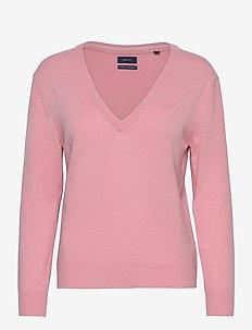 SUPERFINE LAMBSWOOL V-NECK - trøjer - preppy pink