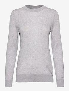 WASHABLE MERINO CREW - gensere - light grey melange