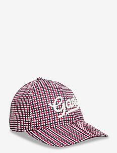 D1. PREPPY CHECK CAP - caps - red