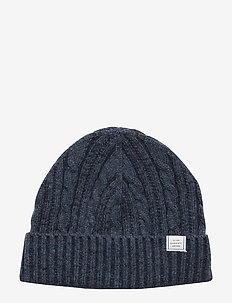 D2. WINTER FADED KNIT HAT - EVENING BLUE