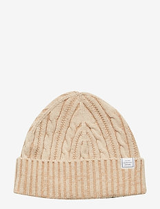 D2. WINTER FADED KNIT HAT - WARM KHAKI