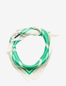 O1. G SILK SCARF - BLARNEY GREEN