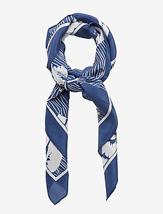 D1. FALL BLUES PRINT SILK SCARF - skjerf - vintage blue