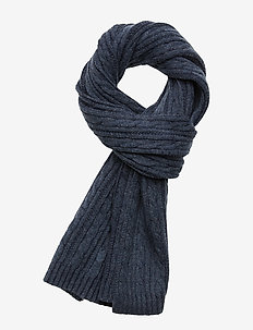D2. WINTER FADED KNIT SCARF - EVENING BLUE