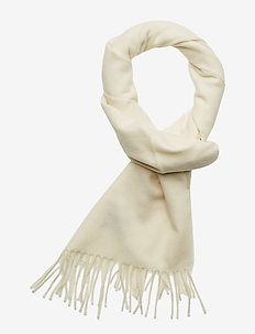 SOLID WOOL SCARF - CREAM