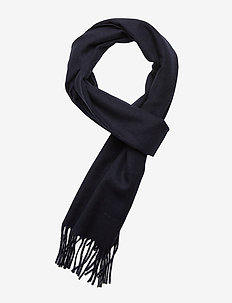 SOLID WOOL SCARF - NAVY