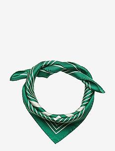D1. TONAL STRIPE G SILK SCARF - scarves - leaf green