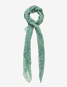 D2. SUMMER FLORAL SCARF - PEPPERMINT