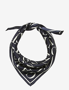 D1. TYPOGRAPHY SILK SCARF - skjerf - evening blue