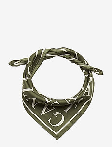 D1. TYPOGRAPHY SILK SCARF - scarves - thyme green
