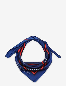 D1. SIGNATURE WEAVE SILK SCARF - sjaals - crisp blue