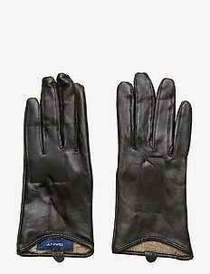 D1. LEATHER GLOVES - BLACK