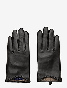 D1. LEATHER GLOVES - hansker - black