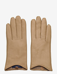 D1. LEATHER GLOVES - hansker - dark khaki