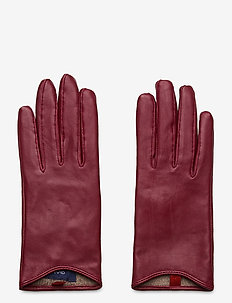 D1. LEATHER GLOVES - hansker - mahogny red