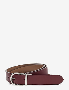 O2. REVERSIBLE LEATHER BELT - MAHOGNY RED