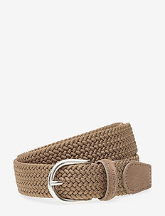 ELASTIC BRAID BELT - DESERT BROWN