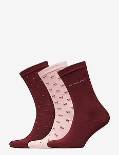 D1. 3-PACK MIXED SOCKS - PORT RED