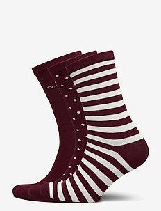 D1. 3 PACK MIXED SOCKS - socks - port red