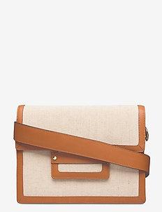 D1. TEXTURED SHOULDER BAG - shoulder bags - putty