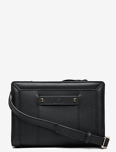D1. CLUB LEATHER CROSS BAG - shoulder bags - black