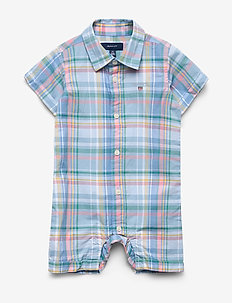 D1. LIGHT MADRAS SHIRT BODY - CAPRI BLUE