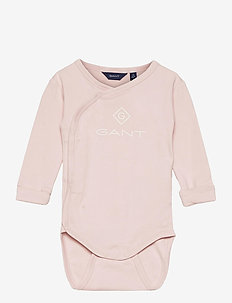 LOCK-UP ORGANIC COTTON BODY - long-sleeved - crystal pink