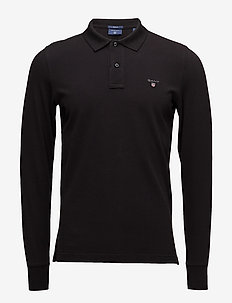 THE ORIGINAL PIQUE  LS RUGGER - langermede - black