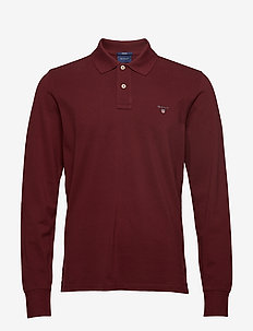 THE ORIGINAL PIQUE  LS RUGGER - langermede - port red