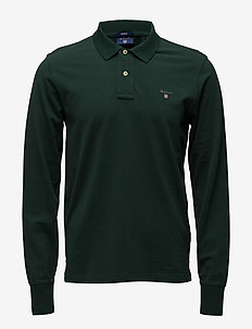 THE ORIGINAL PIQUE  LS RUGGER - langermede - tartan green