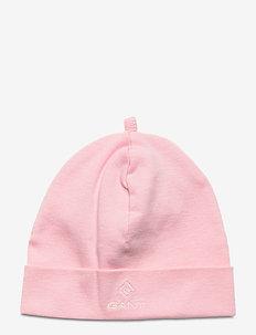 ORGANIC GANT LOCK-UP BEANIE - hats - preppy pink