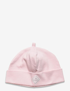 D1. LOCK-UP ORGANIC COTTON BEANIE - hats - crystal pink