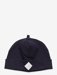 D1. LOCK-UP ORGANIC COTTON BEANIE - hats - evening blue