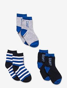 D1. 3-PACK VARSITY BABY SOCKS - strümpfe - strong blue