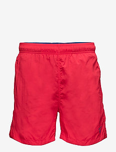 BASIC SWIM SHORTS CLASSIC FIT - BRIGHT RED