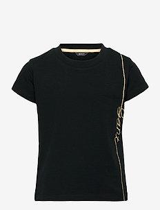 D2. GANT SCRIPT SS T-SHIRT - short-sleeved - black