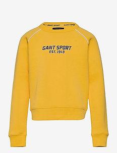 D1. GANT SPORT C-NECK - svetarit - solar power yellow