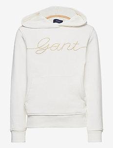 D2. GANT SCRIPT HOODIE - hoodies - eggshell
