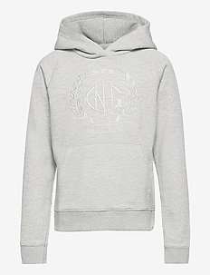 D1. MONOGRAM SWEAT HOODIE - pulls à capuche - light grey melange