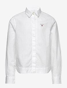 D1. POPLIN SHIRT - shirts - white