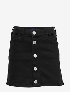 D1. Twill skirt - röcke - black