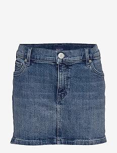 D1. DENIM SKIRT - skirts - light blue worn in