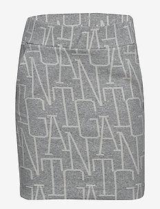 D1. ALLOVER GANT JERSEY SKIRT - skirts - light grey melange