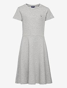 D1. ORIGINAL JERSEY DRESS - kleider - light grey melange
