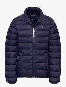 D1. THE LIGHT WEIGHT PUFFER JACKET - EVENING BLUE