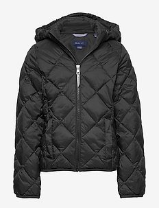 D1. THE LT WEIGHT DIAMOND PUFFER - puffer & padded - black