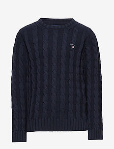 COTTON CABLE CREW - habits tricotés - evening blue