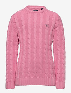 COTTON CABLE CREW - neuleet - sea pink
